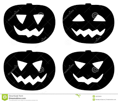 halloween silhouettes free halloween pumpkin icons set isolated on white stock vector image