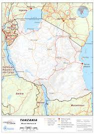 Map Of Tanzania 2 3 United Republic Of Tanzania Road Network Logistics Capacity