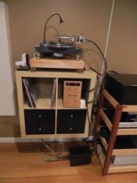 record player table ikea ikea expedit as a turntable stand