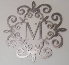 iron on monogram initials family initial monogram antique look 20 any letter available