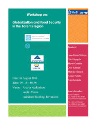 seminar globalization and food security in the barents region
