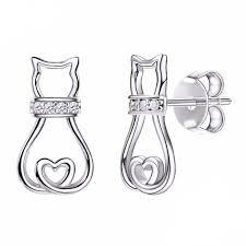 cat stud earrings cat stud earrings
