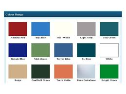 Colour Shades Roofing Sheet Color Shade Card Roofing Sheet Color Shade Card