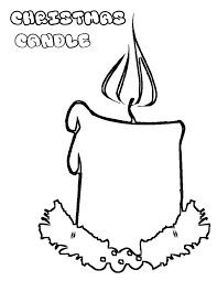christmas candle coloring pages place color