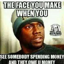 Funny Kevin Hart Meme - spending money funny kevin hart meme
