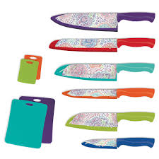 patterned 16 pc nonstick cutlery set