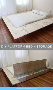 Diy Platform Bed Platform Bed With Storage Tutorial Platform Beds Storage And