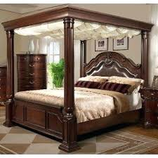 Wood Canopy Bed Cherry Wood Canopy Bed Yuan Canopy Poster Bed In Home Garden