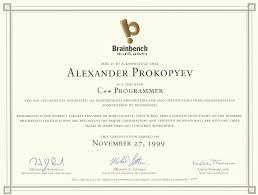 C Programmer Resume Alexander Prokopyev Resume