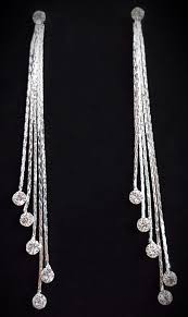 funky earrings silver tassel drop earrings funky