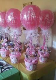 baby bottle centerpieces did this thank you favor for my daughters baby shower barefoot
