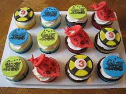 love this train birthday cupcakes spaceships and laser beams