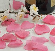Silk Rose Petals Pink Heart Shaped Silk Rose Petals Wedding Favors