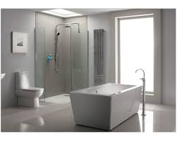 light grey tiles bathroom