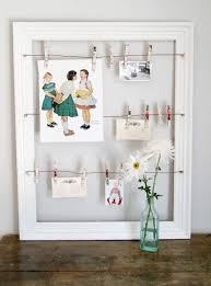 frame ideas using frames as a center piece to decorate 3 cute postcards in a