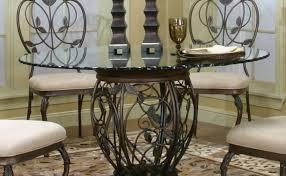 Pedestals For Glass Tables Pedestal 48 Round Glass Dining Table Set Eva Furniture