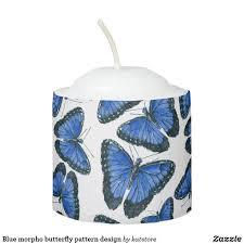 blue morpho butterfly pattern design votive candle zazzle store