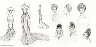 emily u0027s sketchblog padme inspired fashion sketches