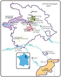 Map Of France Wine Regions by Champagne Region Of France Where The Beautiful Bubbly Originates