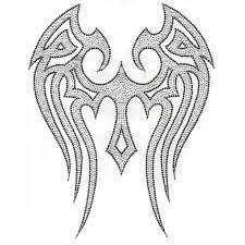 s5225 blk tribal wings designer looks symbols isaacs designs