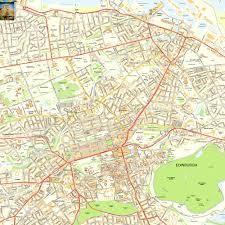 Road Map Of Scotland Edinburgh Offline Street Map Including Edinburgh Castle Royal