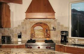 baffling beige color natural stone backsplashes features mosaic