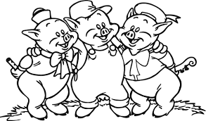 3 little pigs coloring page wecoloringpage