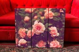 imagenes de rosas vintage set de cuadros tripticos flores rosas vintage paisajes 890 00
