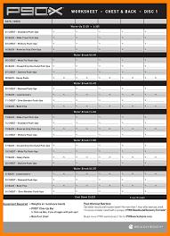 Workout Excel Spreadsheet P90x Workout Sheet Goddess Workout