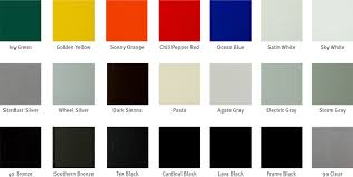 Shades Of Red Color Chart by Powder Coating Color Charts Georgia Powder Coating
