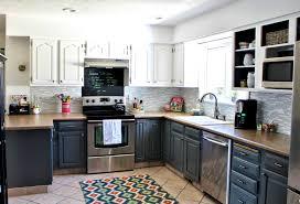 Light Gray Kitchen Cabinets Home Design Interior Amazing Red White Light Grey Gray Kitchen