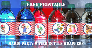mario birthday party ideas printables