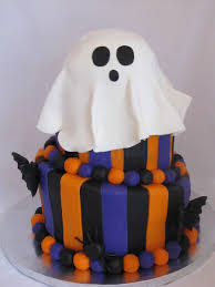 three tier fondant covered halloween cake with 3d bats and spiders