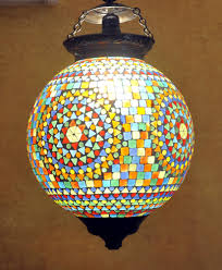 Mosaic Pendant Lighting by Designer Home Decorative Mosaic Glass Ceiling Hanging Lamp