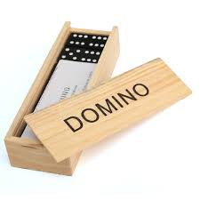 28pcs children s wooden boxed domino play set traditional