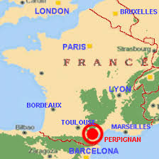 map of perpignan region the region