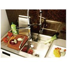 Work Station Series Triple Bowl Kitchen Sink With Accessories - Triple sink kitchen