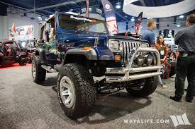 sema jeep yj 2017 sema rugged ridge blue jeep yj wrangler