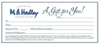gift certificates hadley gift certificates order a gift card