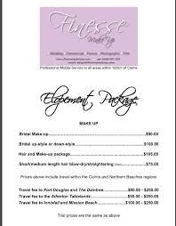 bridal hair prices wedding price list makeup finesse makeup