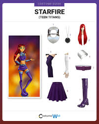 starfire costume dress like starfire costume and guides
