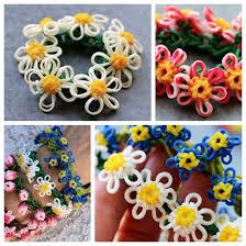 flower bracelet diy images Wonderful diy rainbow loom daisy flower bracelet jpg