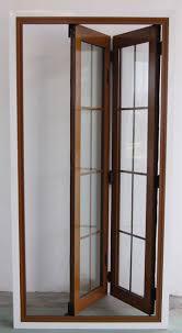 Jeld Wen Room Divider Folded Wooden Doors Aluminum Wood Clad Folding Door System S 72
