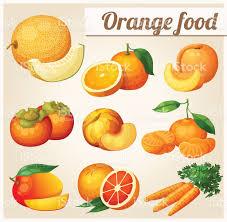 groupe cuisine plus groupe de dessin animé icônes alimentaire orange cuisine melon
