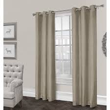 rita textured grommet curtain panel natural 96 in at home at home