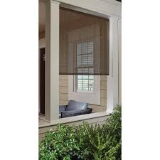 Roll Up Window Shades Home Depot by Coffee Cord Free Easy Lift Spring Action High Density Polyethylene