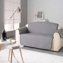 protége canapé douceur d interieur protège canapé matelassé microfibre kiria gris