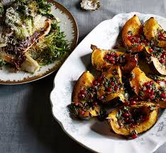 Easy Side Dish For Thanksgiving Travis Lett U0027s Acorn Squash With Mint And Pomegranate Pesto Recipe