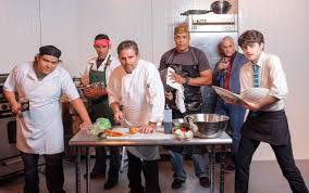 horizon theatre s knife presents redemption in the kitchen how to use a knife onstage at the horizon theatre takes place amid the hustle and bustle of a busy kitchen