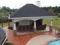 Backyard Cabana Ideas Back Yard Cabana Designs Cabana With Outdoor Kitchen Fireplace